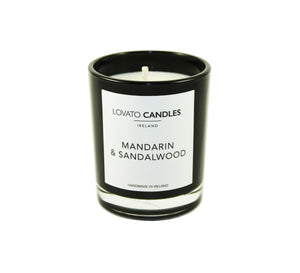 Black Votive Candle - Mandarin & Sandalwood - Lovato Candles