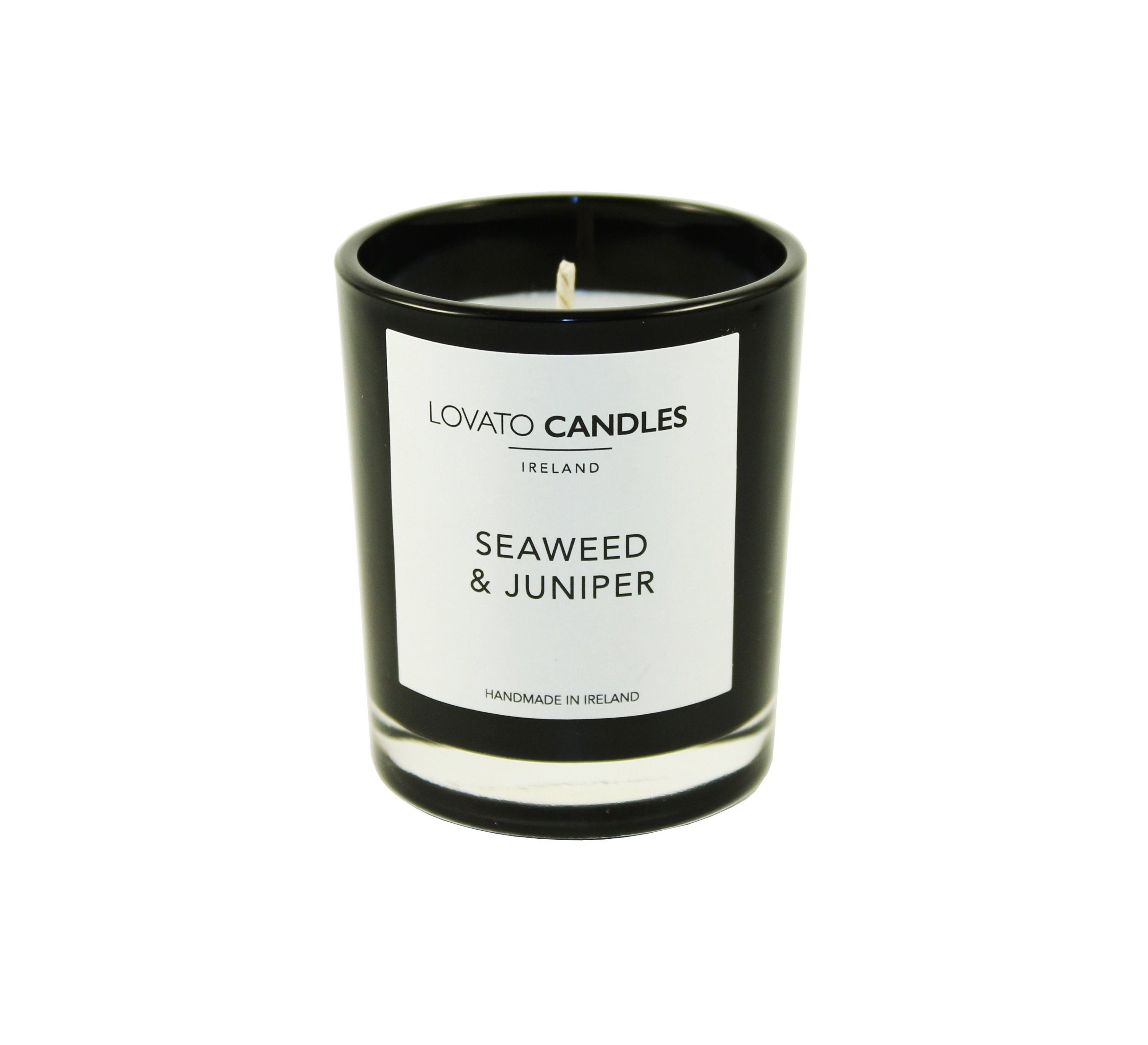 Black Votive Candle - Seaweed & Juniper - Lovato Candles