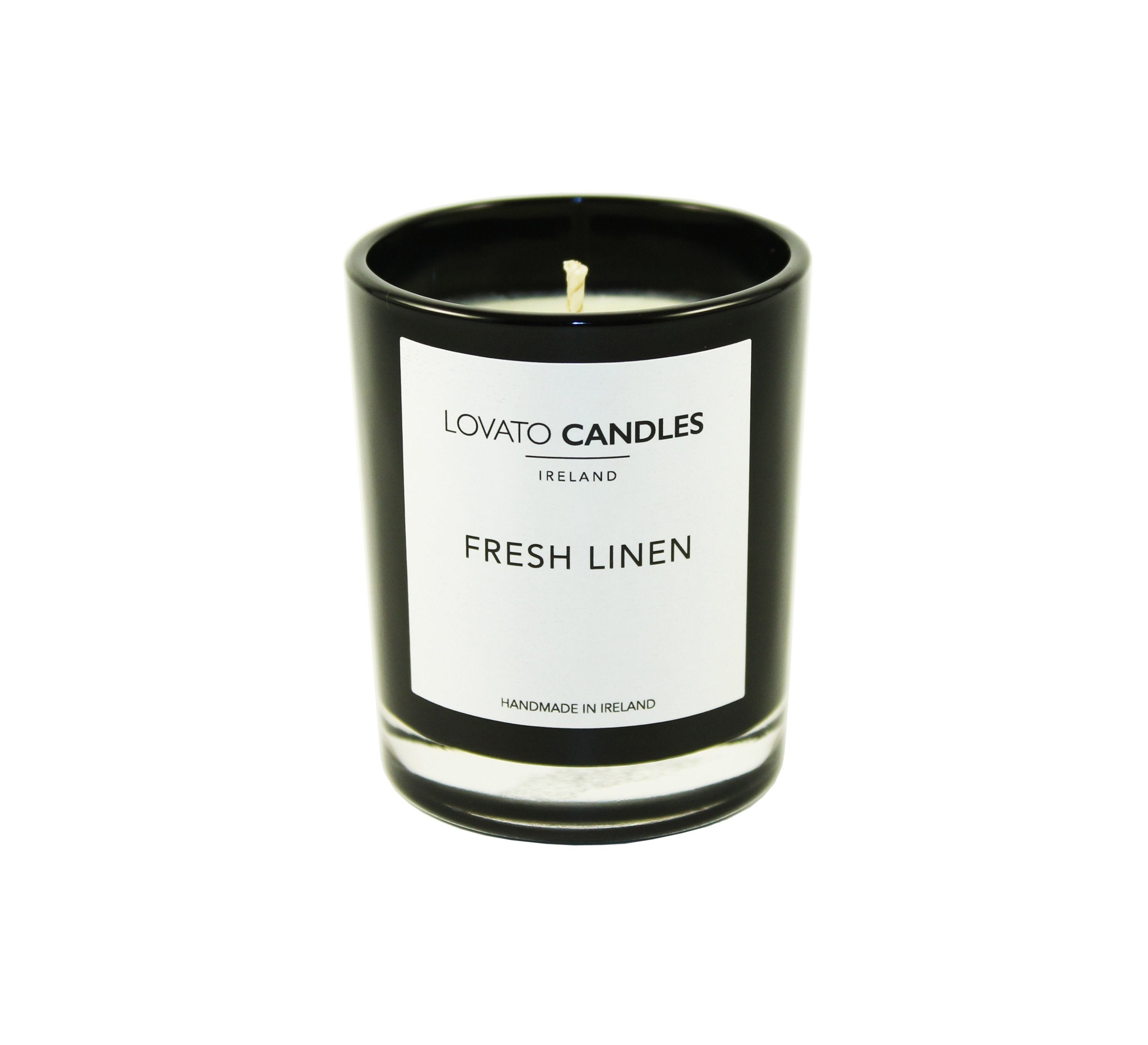 Black Votive Candle - Fresh Linen - Lovato Candles