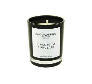 Black Votive Candle - Black Plum & Rhubarb - Lovato Candles