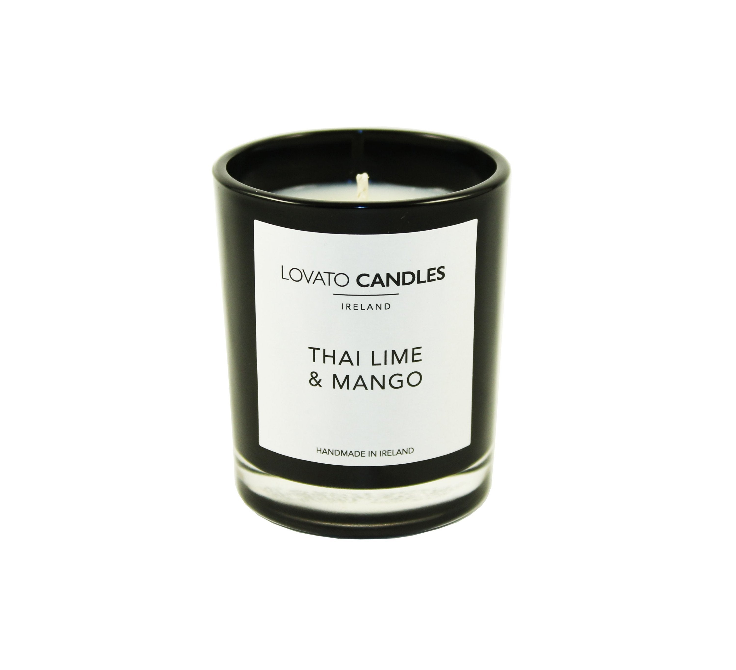 Black Votive Candle - Thai Lime & Mango - Lovato Candles