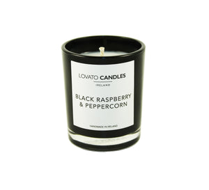 Black Votive Candle - Black Raspberry & Peppercorn - Lovato Candles
