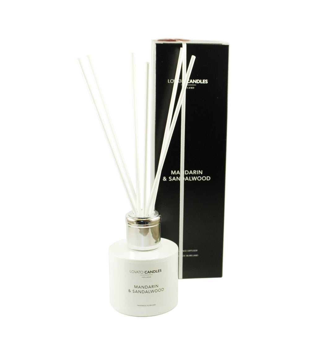 White Diffuser - Mandarin & Sandalwood - Lovato Candles