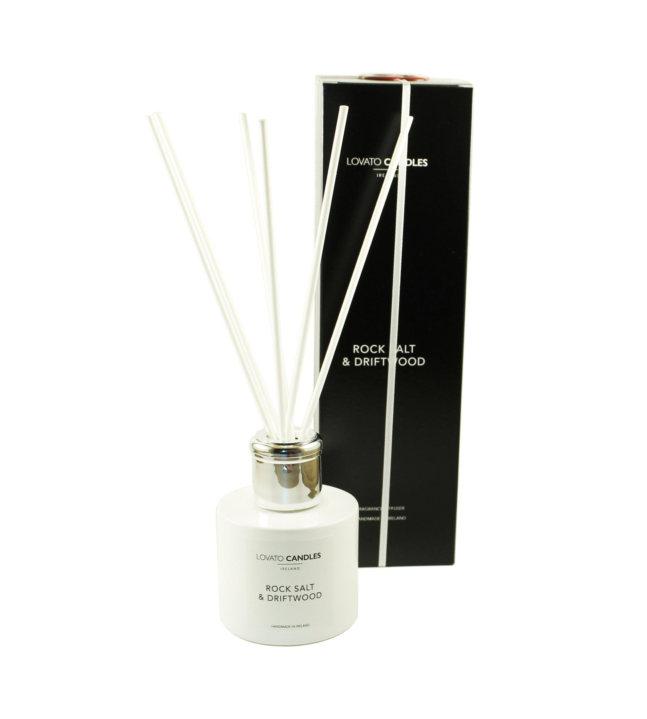 White Diffuser - Rock Salt & Driftwood - Lovato Candles