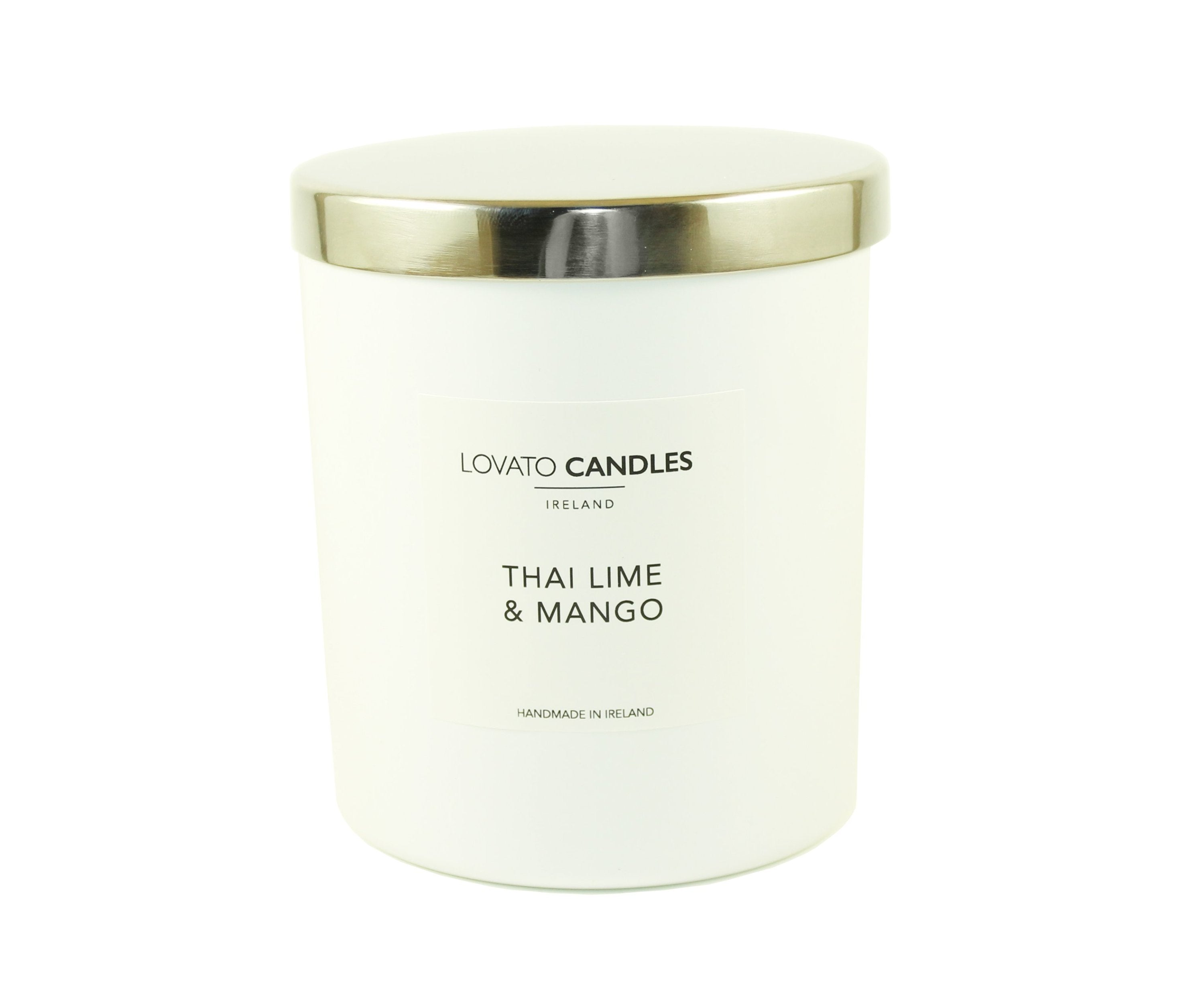 Luxury White Candle - Thai Lime & Mango - Lovato Candles