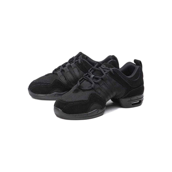 Papoutsia Latin Athlika Unisex Sneakers Sansha Tutto Nero Black Pair MelizDanceShop