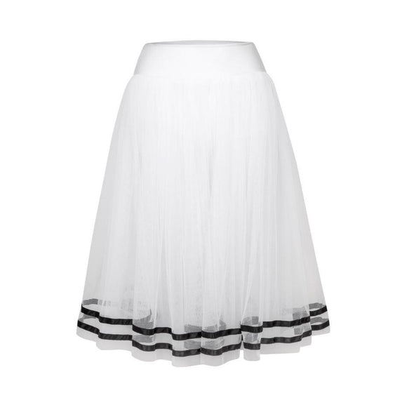 Fousta Mpaletou Toutou FreedOfLondon Romantic Tutu with Ribbon RAD White Black MelizDanceShop