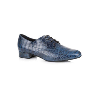 Papoutsia Latin Andrikal Ballroom  American Smooth Xeiropoihta FreedOfLondon Kelly Navy Blue Croc Leather MelizDanceShop