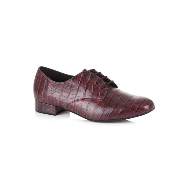 Papoutsia Latin Andrika Ballroom  American Smooth Xeiropoihta FreedOfLondon Kelly Burgundy Croc Leather MelizDanceShop