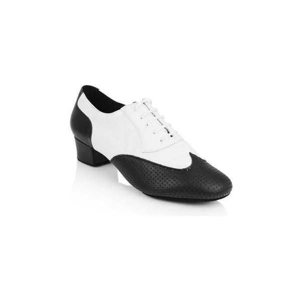 Papoutsia Latin Andrika Xeiropoihta Ray Rose Adolfo Leather Black White MelizDanceShop