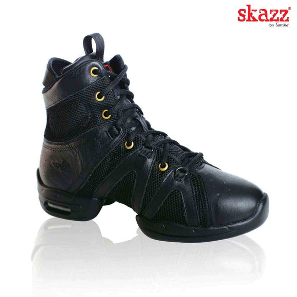 Papoutsia Latin Athlitika Sneakers Sansha Vortex Boot Black MelizDanceShop