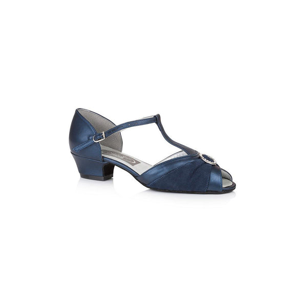 Papoutsia Latin Gynaikeia Social Dance Steps Xeiropoihta FreedOfLondon Garnet Navy Blue Leather Suede MelizDanceShop