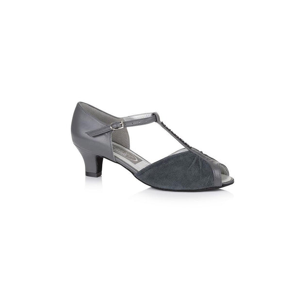 Papoutsia Latin Gynaikeia Social Dance Steps Xeiropoihta FreedOfLondon Topaz Grey Leather Suede MelizDanceShop