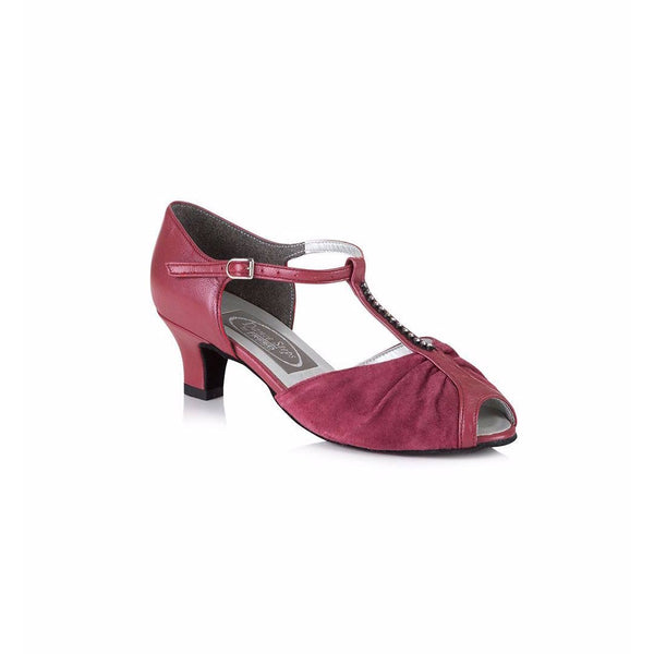 Papoutsia Latin Gynaikeia Social Dance Steps Xeiropoihta FreedOfLondon Topaz Red Leather Suede MelizDanceShop