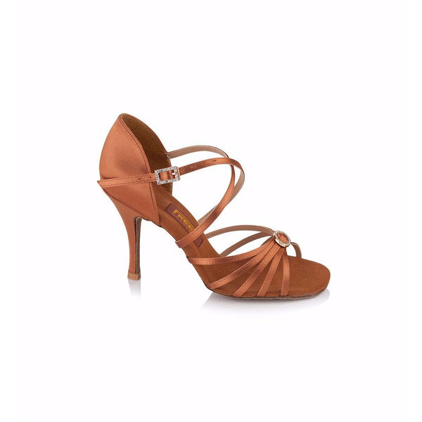 Papoutsia Latin Gynaikeia Freed Of London Sophia Dark Tan 3.5'' MelizDanceShop