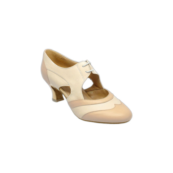 Papoutsia Latin Practice Gynaiekeia Xeiropoihta Ray Rose Lorna Lee Beige Tan Leather Limited Edition MelizDanceShop