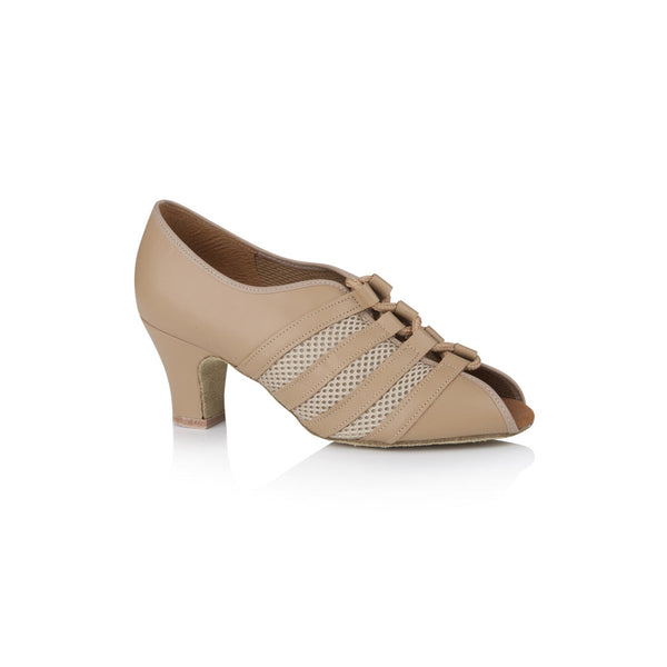 Papoutsia Latin Practice Gynaikeia Xeiropoihta Freed Of London Sienna Leather Mesh Tan MelizDanceShop