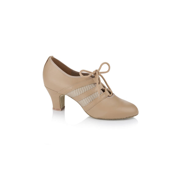 Papoutsia Latin Practice Gynaikeia Xeiropoihta Freed Of London Verona Leather Mesh Tan MelizDanceShop
