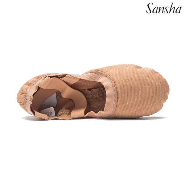 Papoutsia Mpaletou Malaka Gynaikeia Andrika Sansha Hyper Flex Split Sole Light Tan MelizDanceShop