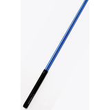 Ribbon Stick Mpagketa Kordelas Rythmikis Gymnastikis Agonistiki Pastorelli Mirror Stick FIG 00400 Mirror Blue Black Grip MelizDanceShop