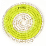 Sxoinaki Rythmikis Gymnastikis Polyxrwmo Agonistiko Pastorelli Multicoloured FIG 00283 White Fluo Yellow MelizDanceShop