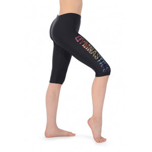 The Zone Gymnastics Capri Kolan Lycra Strass Motif MelizDanceShop