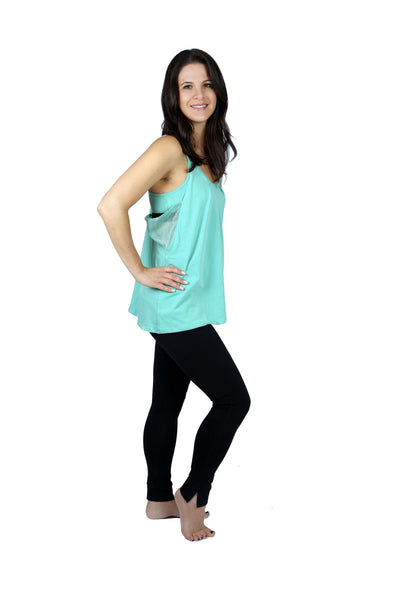 Menthol Green Yoga Top