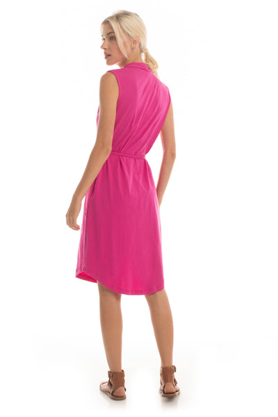Wrap Dress - Fuschia