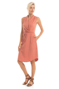 Wrap Dress - Dusty Rose