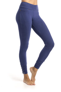 Organic Cotton Legging - Blue Bird Colour