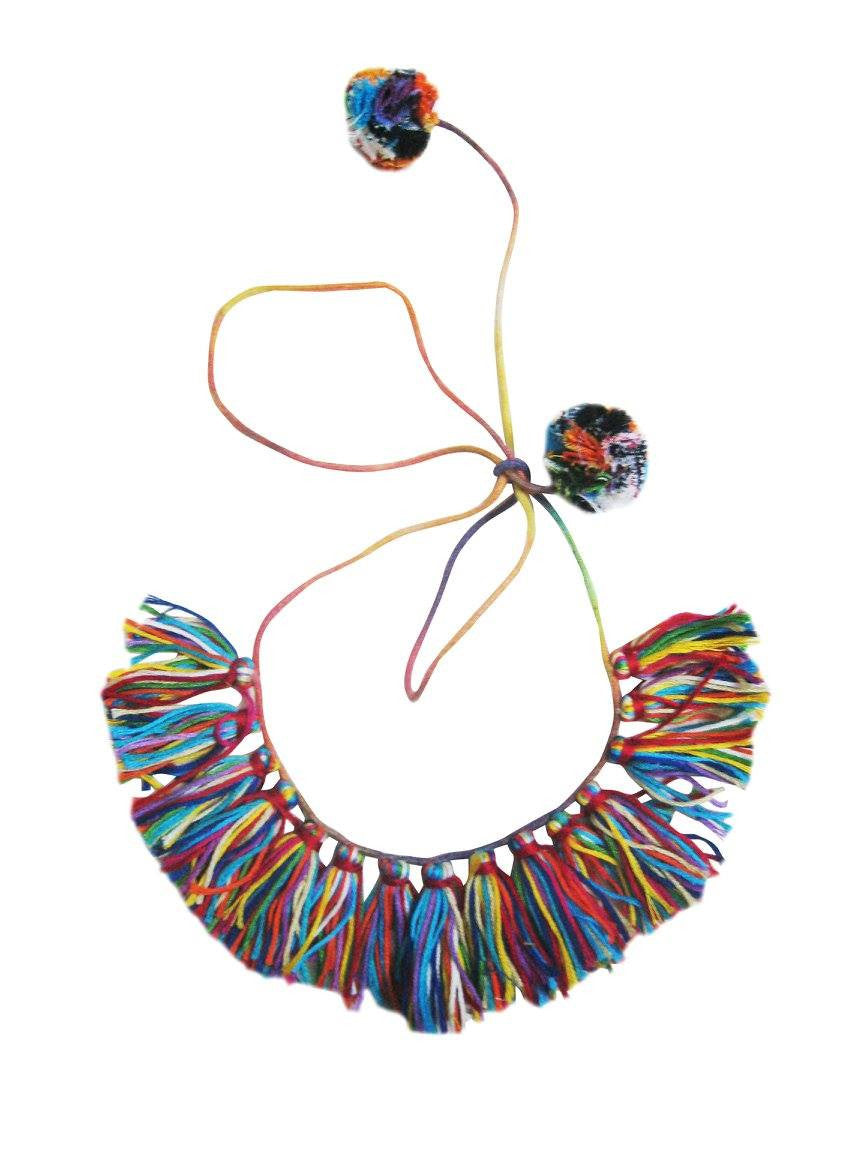 Multicolor Fringe Necklace