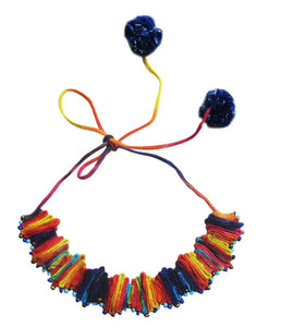 Cotton Multicolour necklace with beads