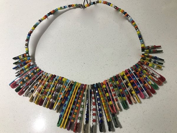 Safety Pin Choker - Multicolor