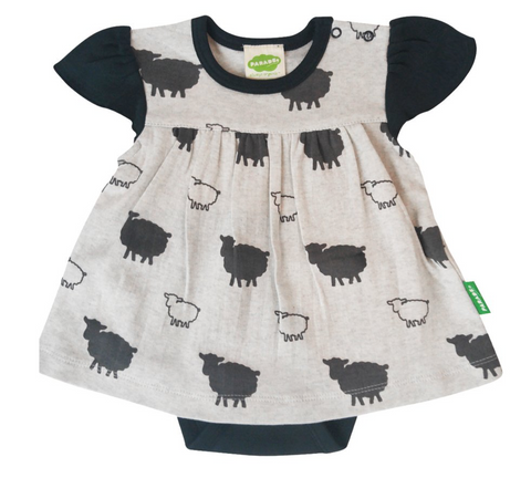 Onesie Dress with sheep print Colour Grey