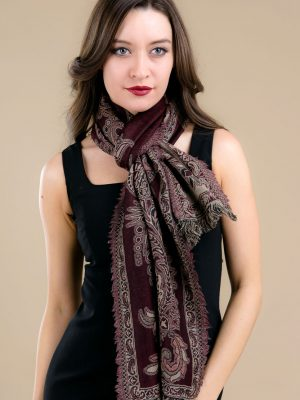 Royal Kashmir Wool Scarf - Black