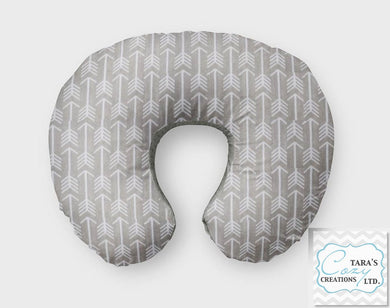 Silver Arrow Nursing Pillow Cover- Boppy Cover, Jolly Jumper C Cover or Boomerang Cover