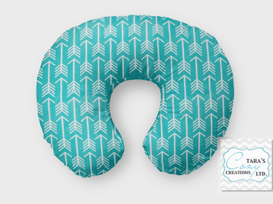 Teal Arrow Nursing Pillow Cover- Boppy Cover, Jolly Jumper C Cover or Boomerang Cover