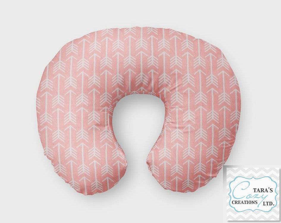 Coral Arrow Nursing Pillow Cover Boppy Cover Jolly Jumper C Cover New Jolly Jumper Boomerang Nursing Pillow Cover