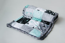 """Designer Patchwork"" Minky Weighted Blanket - You Choose the Size and Weight"