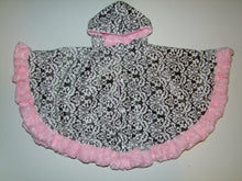 Blossoms Minky Circular Poncho - Baby to Adult Sizing