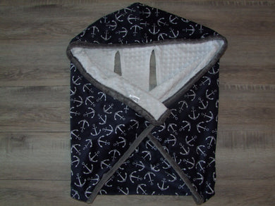 Anchor Cozy Wrap Blanket- Car Seat Blanket with Harness Holes