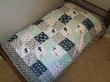 Designer Minky Blanket- Northern Lights Patchwork