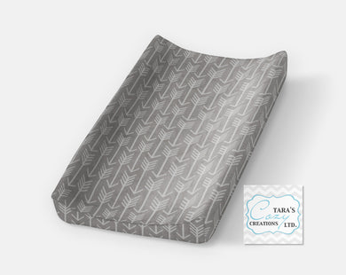 Silver Arrow Changing Pad Cover- Contour Cover- Minky Cover