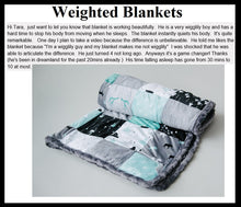 """Woodland Collection"" Patchwork Minky Weighted Blanket - You Choose the Size and Weight"