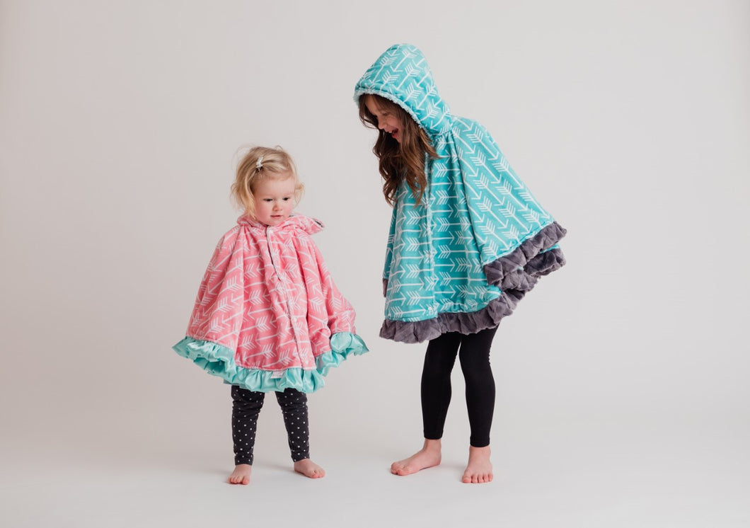 ... PICK YOUR OWN DESIGN - Minky CIRCULAR Poncho - Baby to Adult Sizing ...
