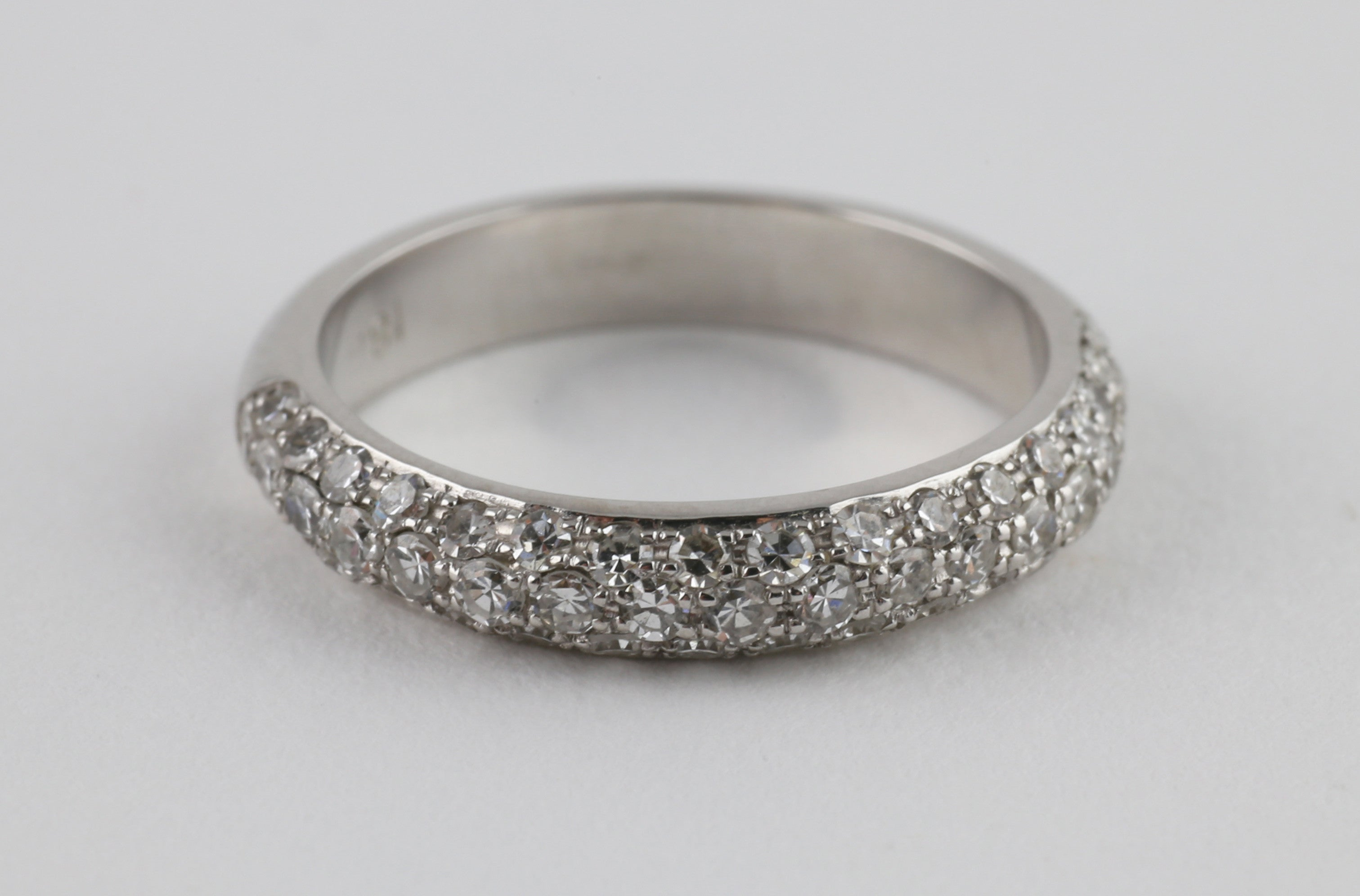 Classic French Pave Wedding Band