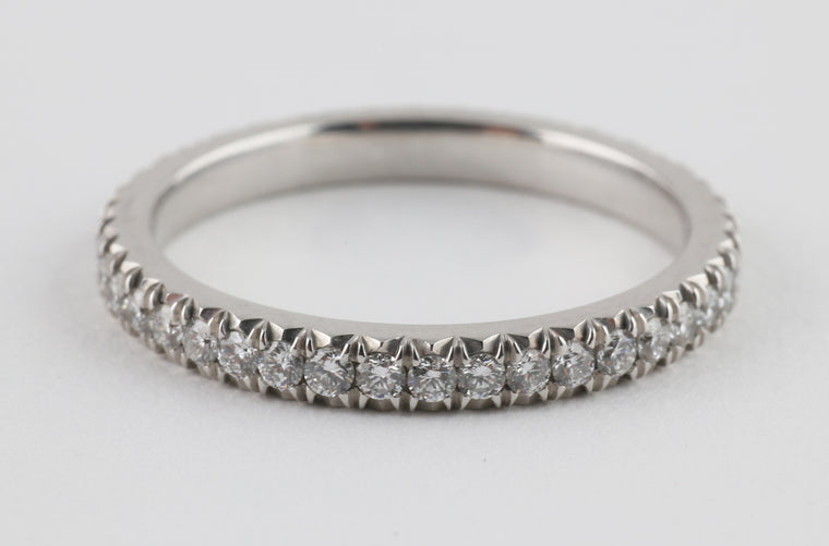 French Pave Eternity Band