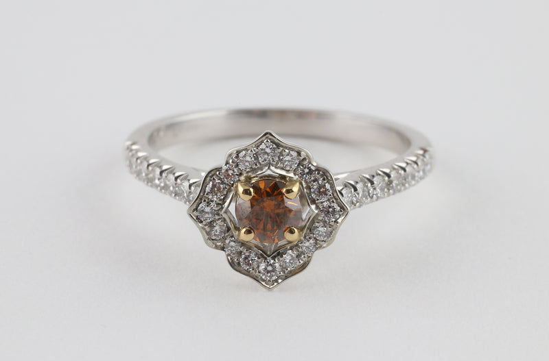 Cognac Star Ring