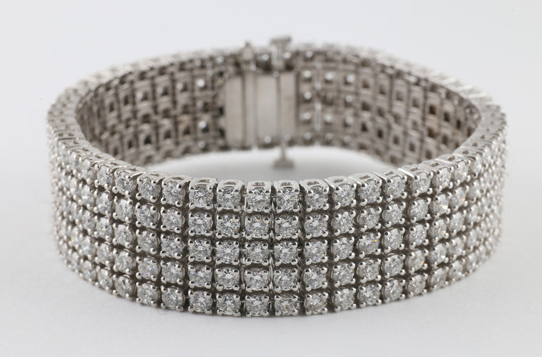 Five-Row Diamond Bracelet