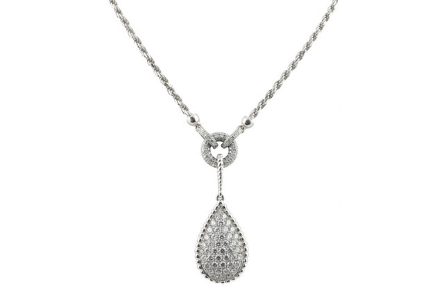 Sparkling Raindrop Necklace